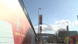 The long road to Wembley. Thousands have made the trip for tomorrow's match.