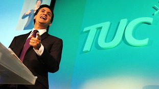 File photo: Ed Miliband addressing delegates at the TUC Congress