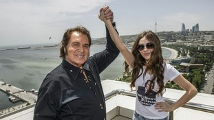 UK Eurovision entrant Engelbert Humperdinck with Azerbaijani contestant, Sabrina