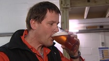 Man drinking a pint
