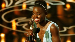 Lupita Nyong'o won the Best Supporting Actress Oscar for 12 Years a Slave.