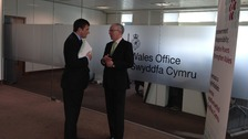 Welsh Secretary David Jones and commission chair Paul Silk