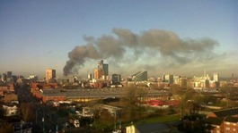 Large fire at recycling plant in Salford