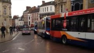 Northampton town centre is gridlocked.