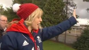 Snowboarder Jenny's victory tour