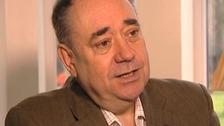 Scottish First Minister Alex Salmond speaking to ITV News' Martin Geissler.