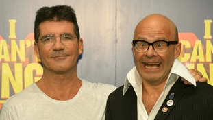 Simon Cowell with Harry Hill at the launch of The X Factor musical I Can't Sing.