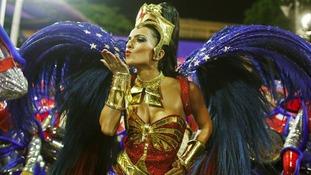 Drum Queen Bruna Bruno from the Uniao da Ilha samba school.
