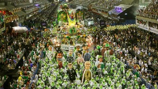 Thousands turned up at Rio de Janeiro's Sambadrome to take part in the festivities.
