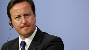 Britain's Prime Minister David Cameron addresses the media in Ankara
