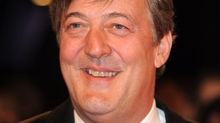 Stephen Fry smiling.