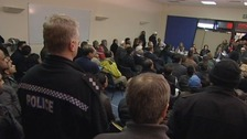 Around 150 people turned up for the meeting.