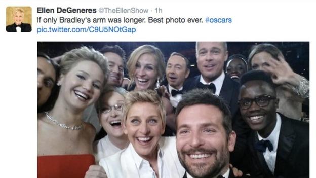 Selfie ITV News - David cameron tweets phone obama selfie celebrities create parodys
