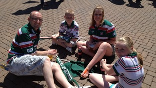 Leicester Tigers fans Twickenham