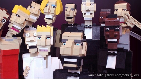 The LEGO inspired selfie at the Oscars