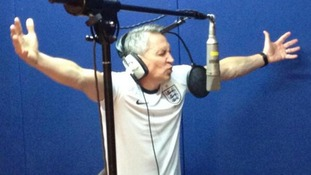 Gary Lineker and popstars unite to record a song they hope will lead England to World Cup glory