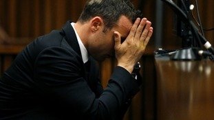 Olympian and Paralympian Oscar Pistorius pictured in court yesterday.
