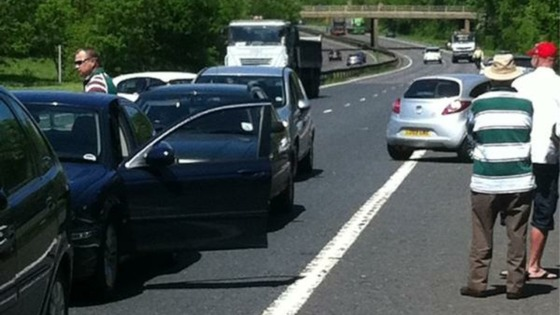A1(M) delays after crash