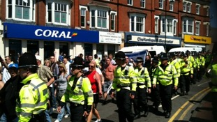 The EDL march through Redditch