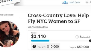 The dating service wants to raise $10,000 to start the cross-country meet-up.