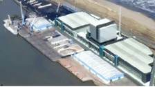 An artist's impression of the planned biomass plant.