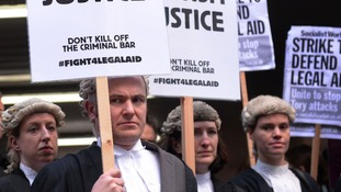 Lawyers protesting.