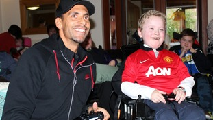 Rio Ferdinand at Francis House Children's Hospice