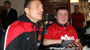 Nemanja Vidic at Francis House Children's Hospice