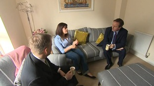 The PM talks to homeowners in Bedford.