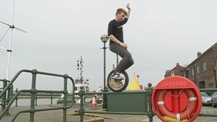 Simon Berry has got some incredible moves on a Unicycle.