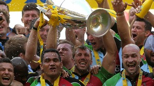 Harlequins beat Leicester Tigers in Aviva Premiership Final