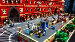 St Pancras in Lego