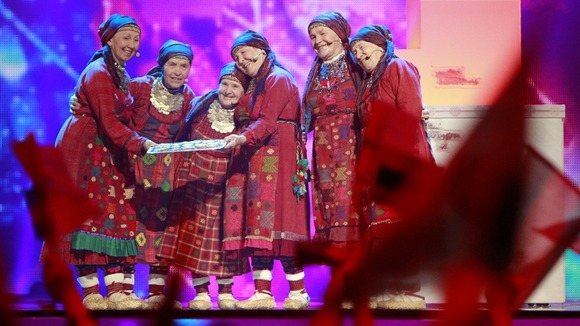 "Buranovskiye Babushki of Russia perform their song ""Party For Everybody"""