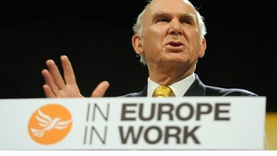 Vince Cable has stepped up the coalition row over immigration