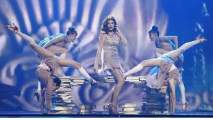 "Ivi Adamou of Cyprus performs her song ""La La Love"""
