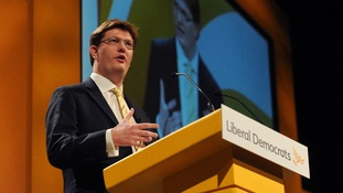 Treasury Chief Secretary Danny Alexander gives his speech to the Liberal Democrats' spring conference in York