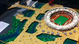 Landmarks made out of Lego on display in Newcastle