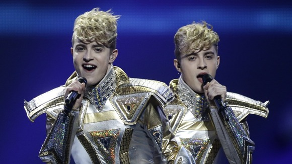 Ireland's Jedward couldn't improve upon their eighth placed scored in last year's contest.