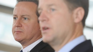 Prime Minister David Cameron and Deputy Prime Minister Nick Clegg