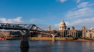 Millenium Bridge and St. Paul's cathedral