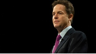 Nick Clegg during his closing address to the Liberal Democrats' spring conference