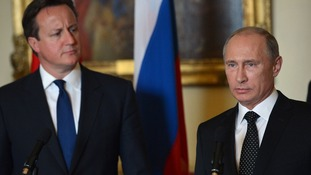 David Cameron and Vladimir Putin together in June
