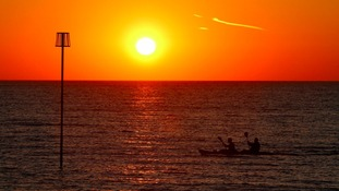 Sunset at Heacham, Norfolk