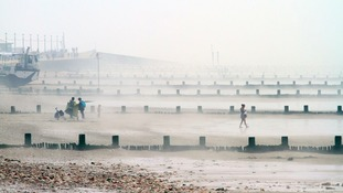 Sea mist at Hunstanton, Norfolk