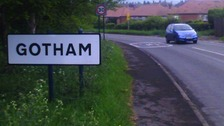 'Batman theory' after Gotham village sign stolen