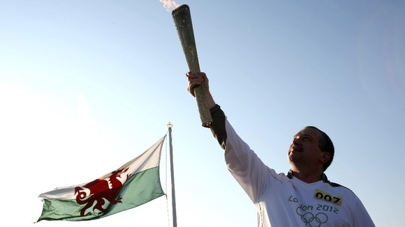 torchbearer with torch