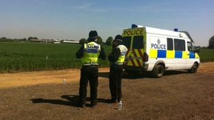 Police guard GM crops at Harpenden