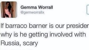 'Barraco Barner' tweeter hits back after global ridicule