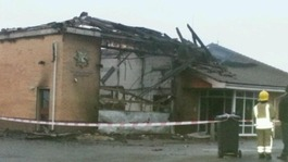 Blaze destroys fire station and fire engine
