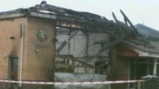 Fire station and fire engine destroyed in blaze